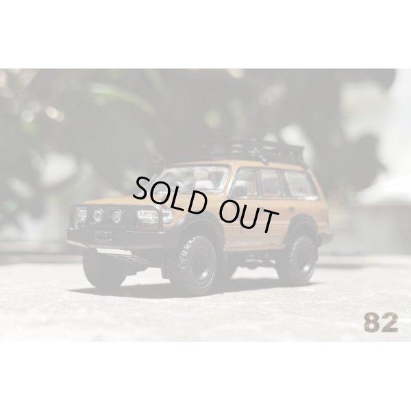 画像1: Gaincorp Products 1/64 Toyota Land Cruiser LC80 Off-road version- RHD Brown