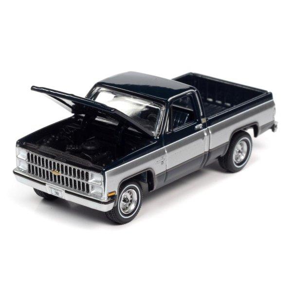 画像3: auto world 1/64 1982 Chevy Silverado 10 Midnight Blue / Silver
