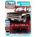 auto world 1/64 1982 Chevy Silverado 10 Midnight Black