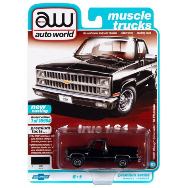画像1: auto world 1/64 1982 Chevy Silverado 10 Midnight Black