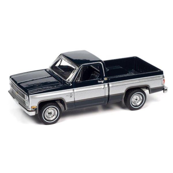 画像2: auto world 1/64 1982 Chevy Silverado 10 Midnight Blue / Silver
