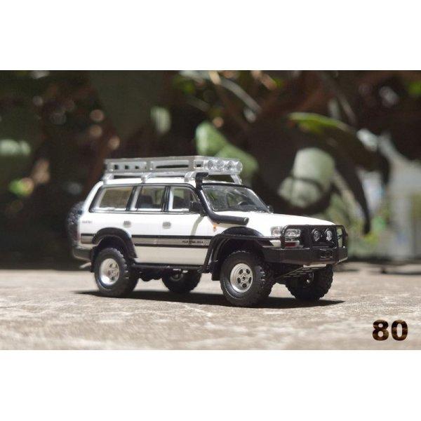 画像1: Gaincorp Products 1/64 Toyota Land Cruiser LC80 Off-road version LHD White