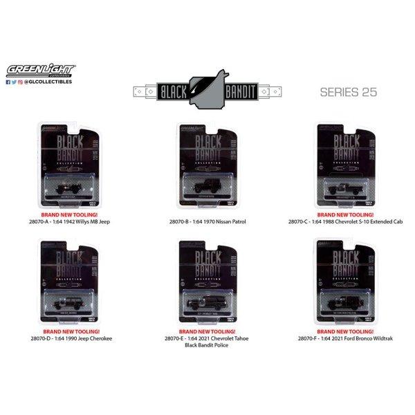 画像1: GREEN LiGHT 1/64 Black Bandit Series 25