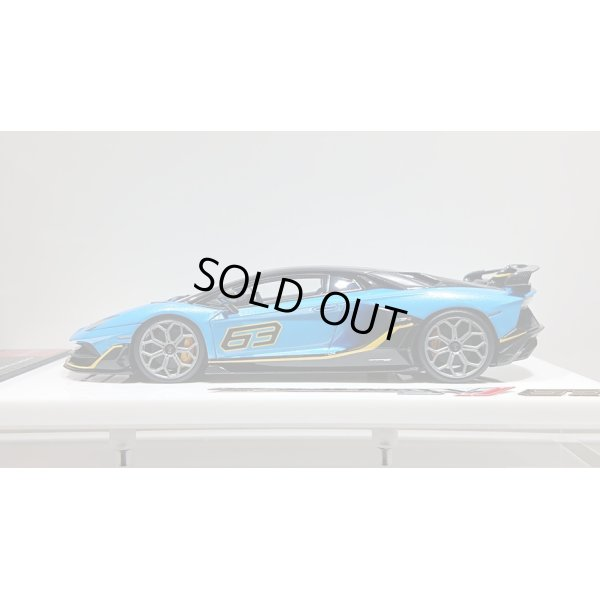 画像2: EIDOLON 1/43 Lamborghini Aventador SVJ 63 2018 Azzurro Pearl Limited 30 pcs.