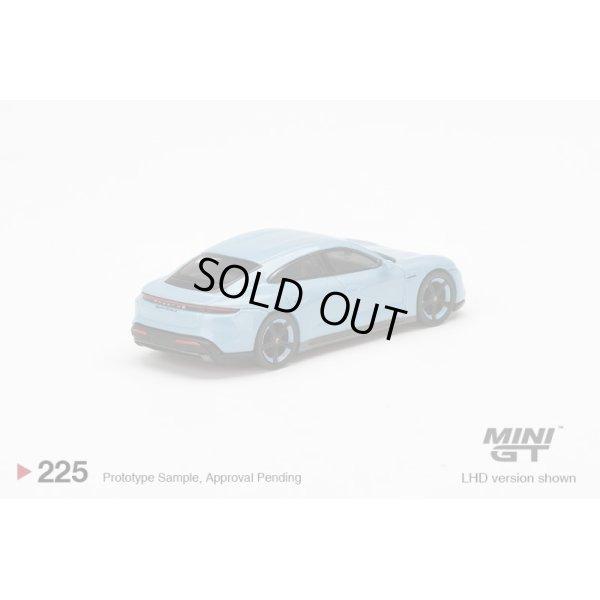 画像3: MINI GT 1/64 Porsche Taycan Turbo S Frozen Blue Metallic (LHD)