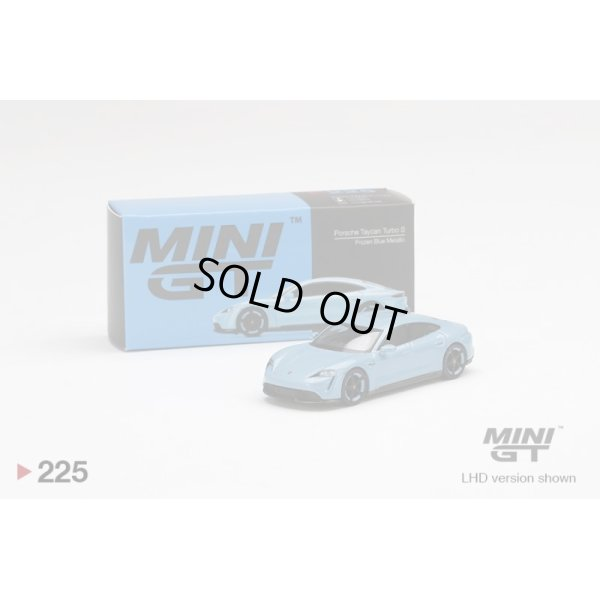 画像1: MINI GT 1/64 Porsche Taycan Turbo S Frozen Blue Metallic (LHD)