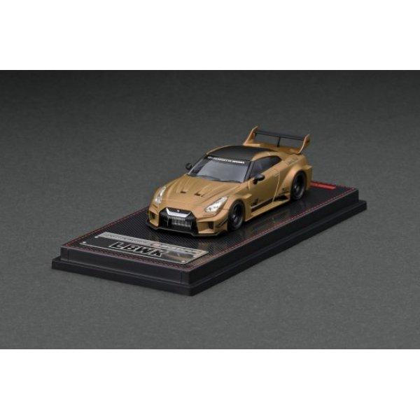 画像1: ignition model 1/64 LB-Silhouette WORKS GT Nissan 35GT-RR Matte Gold