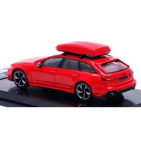 画像4: CM MODEL 1/64 Audi RS 6 Avant Tango Red with Roof Box